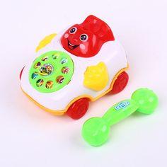 Children Sound Toy Pull Line Music Car Phone Educational Intelligence Developmental Toys Kids Gift