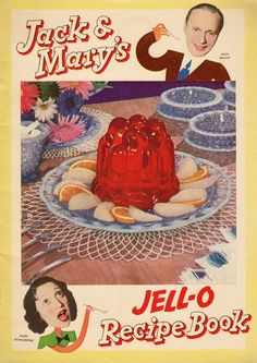 You can find this at the Jello Museum in New York. Recipes include Crested Jell-O Whips (a recipe my Mom made all the time).