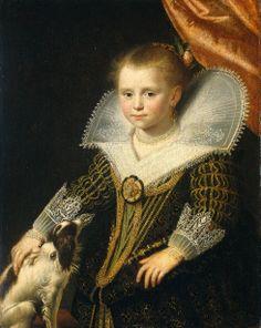 Portrait of a Girl, The Princess. Paulus Moreelse. Utrecht (1571 - 1638)