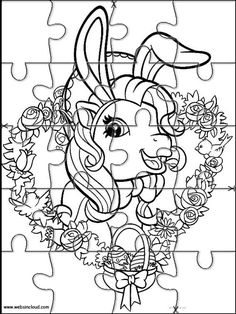 Printable jigsaw puzzles to cut out for kids My little Pony 16 Coloring Pages