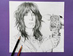 Patti Smith portrait drawing