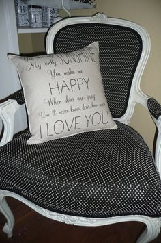 You Are My Sunshine Pillow Cover on Etsy, $19.50