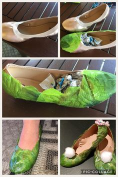 DIY Tinkerbell Schuhe Tinkerbell Shoes DIY, Source by hacer zapatos de mujer Tinkerbell Costume Kids, Tinkerbell Shoes, Fairy Costume Diy, Fairy Cosplay, Cosplay Diy, Diy Halloween Costumes, Halloween Crafts, Pirate Costumes, Halloween Halloween