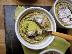 Soufflè dolce di Avocado al Sesamo e Tahini Senza Glutine
