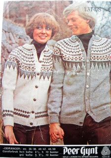 Geiranger 1314 S Norwegian Knitting, Fair Isle Knitting, Yarn Projects, Color Combinations, Knitting Patterns, Weaving, Vests, Retro, Blouses