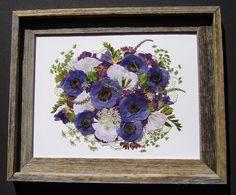 Sweet Wildflower Bridal Bouquet Preserved!  Pressed Flower Art ~ Floral Preservation ~ Pressed Garden ~ www.pressedgarden.com
