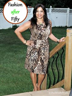 Fashion after Fifty #ootd #dressforless #sheathdress #fashionafterfifty #delawareblogger #animalprint #dedivahdeals