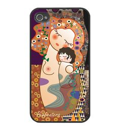 Funda iPhone Funda para iPhone 4/4S Kokeshi Maternidad estilo Klimt
