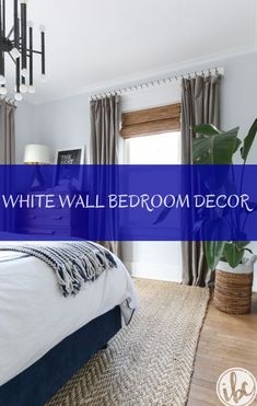 Searching for little room furniture? Huge city condos, vintage home formats, and present day space s White Wall Bedroom, White Walls, Bedroom Decor, Present Day, Condo, Curtains, Decoration, Furniture, Home Decor