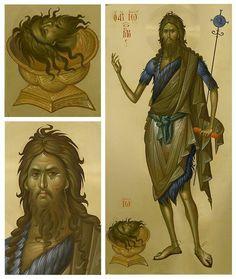San Juan Bautista! Byzantine Icons, Byzantine Art, Religious Icons, Religious Art, Greek Icons, Russian Icons, Jean Baptiste, John The Baptist, Orthodox Icons