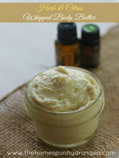 herb and citrus whipped body butter: benefits of the oils in this recipe: Wild Orange ● Relaxes muscles ● Invigorates ● Detoxes  Lemon ● Improves acne ● Reduces bloating ● Lightens varicose veins  Basil ● Improves blood circulation ● Relieves dry skin and psoriasis ● Stress reliever  Rosemary ● Anti fungal ● Anti inflammatory ● Anxiety reducer