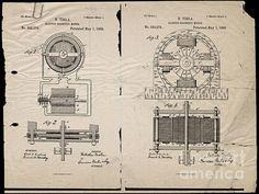 Nikola Tesla's Magnetic Motor Patent 1888 by Paulette B Wright
