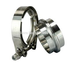 """Exhaust Flange SET 2,75/"""" Connector Set for self made Pipes STAINLESS STEEL"""