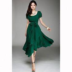 Bottle Green Wrap Around Dress from yellowtrunk