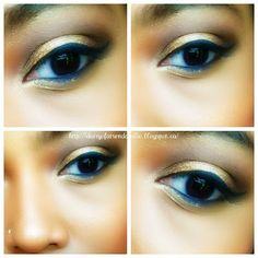 Gold Eye Shadow, soft and pretty, very simple to do!