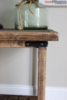 DIY Simple Square Bedside Table Plans - Rogue Engineer 3