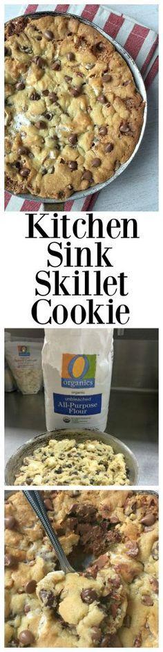 Kitchen Sink Skillet Cookie recipe! #sponsored