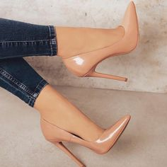 high heels stilettos / high heels _ high heels classy _ high heels stilettos _ high heels boots _ high heels aesthetic _ high heels outfit _ high heels for kids _ high heels drawing Nude High Heels, Stiletto Heels, Nude Pumps, Cream High Heels, Very High Heels, Pointed Heels, Nude Shoes, High Heel Pumps, Sneaker Heels