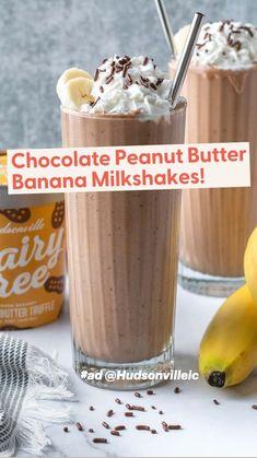 Peanut Butter Milkshake, Healthy Milkshake, Milkshake Recipes, Homemade Milkshake, Strawberry Milkshake, Fun Baking Recipes, Tea Recipes, Coffee Recipes, Fruit Smoothie Recipes