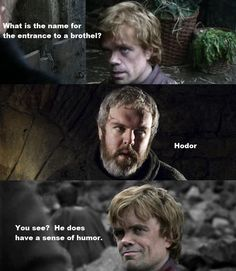 Tyrion tells a joke…