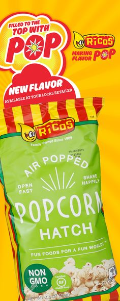 Look at what is popping up on grocery store shelves all over Texas! Our newest popcorn flavor, hatch, is now available. Pop open a party!