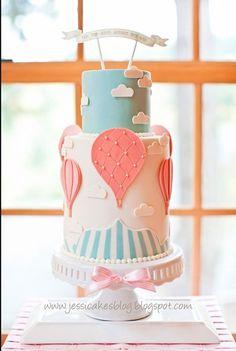 Baby shower parachute cake