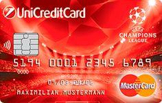 Банковская карта MasterCard Standard «UEFA Champions League» ЮниКредит Банка Uefa Champions League, Cards, Maps, Playing Cards