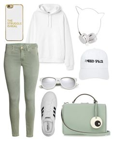 """Space."" by schenonek ❤ liked on Polyvore featuring BaubleBar, adidas, Mark Cross, Skinnydip, Yves Saint Laurent and Nasaseasons"