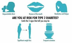 you can have type II diabetes for years without knowing it.