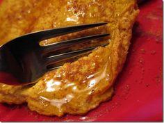 Pumpkin Protein Pancakes...SO good!