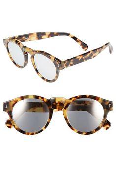 Illesteva 'Leonard' 48mm Mirrored Sunglasses | Nordstrom