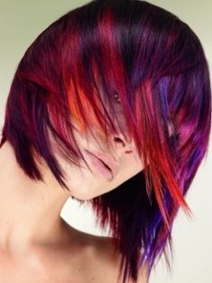 red and purple hair!