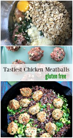 How to Make Ground Chicken Meatballs from Spinach TIger