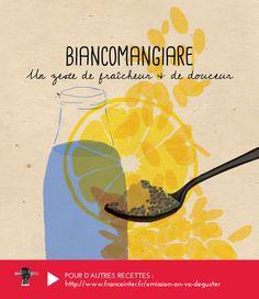 """BIANCOMANGIARE Une crème à l'orange et aux amandes recommandée par Elisia Menduni dans """"On va déguster"""" sur France Inter - RECETTE ICI : http://www.franceinter.fr/emission-on-va-deguster-cuisine-du-soleil-5-eme-volet-la-sicile"""