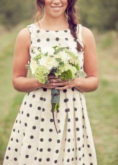 Too cute! Polka dot bridesmaids dress