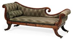 A REGENCY ROSEWOOD AND BOXWOOD INLAID SOFA -  EARLY 19TH CENTURY