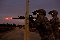US Army, night vision and fire power