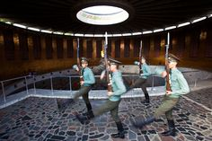 Changing of the Guards at Stalingrad memorial in Volgograd Russia