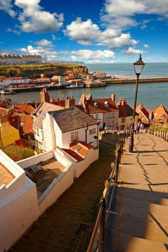 199 steps overlooking Whitby harbour. North Yorkshire, England My favorite part of my trip!