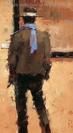 A Collector - Oil by Andre Kohn... western art is da bomb. A slightly more impressionistic western piece...
