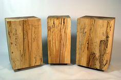 Timber block end tables - Justin Savu