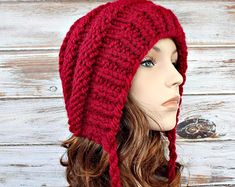 Image result for hat pattern knit with ear flaps