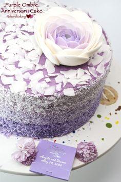 purple ombre coconut cake with ube buttercream