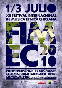 Cartel del festival FIMEC Folk Music, Music Bands, Exhibitions, Poster, Activities, Movies, Musica, Bands