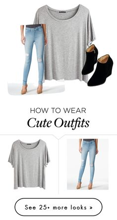 """""""Causal yet cute outfit"""" by allieisaflower on Polyvore featuring Chicnova Fashion, SUEDE, WithChic, women's clothing, women, female, woman, misses and juniors"""