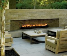 Exciting Outdoor Fireplace Ideas For Your Patio - Outdoor Rooms Build Outdoor Fireplace, Outside Fireplace, Outdoor Fireplace Designs, Backyard Fireplace, Diy Fireplace, Backyard Patio, Ethanol Fireplace, Fireplace Inserts, Gas Fireplaces
