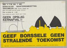 Nr 11: Recht van demonstratie. Van 4-7 mei 1990 werd op verschillende plaatsen in Zeeland actie gevoerd tegen de komst van de COVRA (Centrale Organisatie voor Radioactief Afval). #IAD15 #democracy Uit: Archief Links Kollektief Walcheren. Meer informatie over deze actie: http://www.laka.org/protest/jaar/1990.html Vindplaats in Zeeuws Archief: http://www.archieven.nl/nl/search-modonly?mivast=239&mizig=210&miadt=239&micode=212&miview=inv2