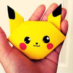 Tektonten Papercraft - Pokemon Origami: Pikachu Head ~ How to
