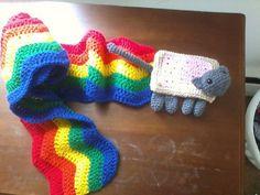 Nyan Cat Scarf Crochet Pattern Free : 1000+ images about Nyan Nyan Nyan on Pinterest Nyan cat ...