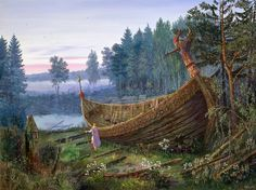 I find this a beautiful piece of art... Viking ship
